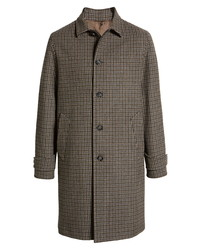 Officine Generale Stephane Plaid Wool Blend Overcoat
