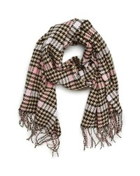 Brown Houndstooth Scarf