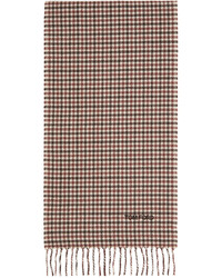 Tom Ford Red Beige Houndstooth Scarf