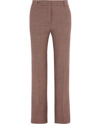 Houndstooth tweed slim leg pants brown medium 6834146