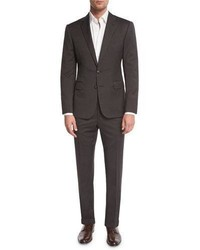 Ralph Lauren Anthony Houndstooth Two Piece Suit Olive