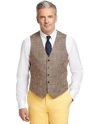 Brown Houndstooth Waistcoat