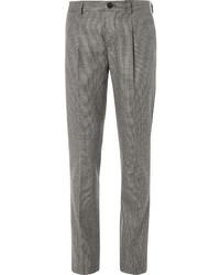 Brown Houndstooth Wool Dress Pants