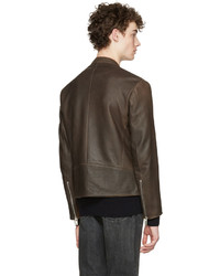 8ed95185e Maison Margiela Brown Five Zip Jacket, $2,485 | SSENSE | Lookastic.com