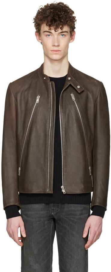 f9eb073e8 $2,485, Maison Margiela Brown Five Zip Jacket