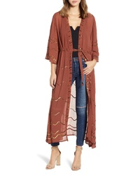 NEW FRIENDS COLONY Wavy Sequin Kimono