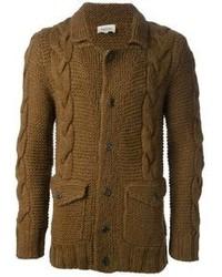 Brown Knit Cardigan