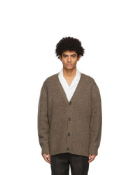 Acne Studios Brown Wool And Cashmere Cardigan