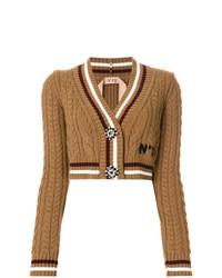 N°21 N21 Cropped Embellished Button Cardigan