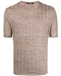 Tagliatore Knitted Ribbed Short Sleeve Top