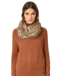 Jocelyn Fur Knitted Infinity Scarf