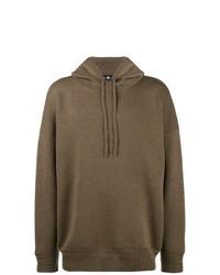 Brown Knit Hoodie
