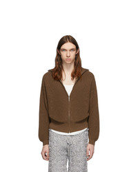 Judy Turner Brown Rib Zip Front Jacket
