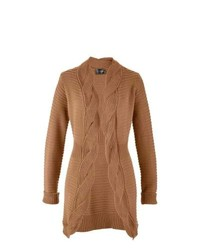 bpc selection Cable Knit Cardigan In Tan Size 1012