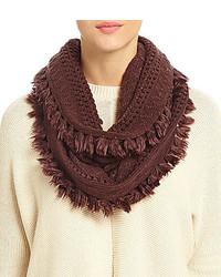 Dillards Tasseled Open Knit Infinity Scarf