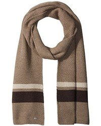 Hugo Boss Boss Esar Knitted Scarf With Contrast Stripe