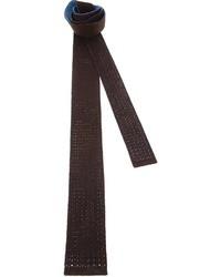 Drumohr Bi Tone Silk Knit Tie
