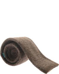 Saryans Arthur Houndstooth Knit Tie Black Ties