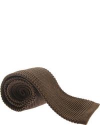 Saryans Arthur Silk Knit Tie Brown Ties
