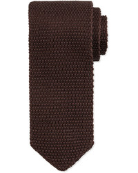 Tom Ford Textured Knit Tie Brown