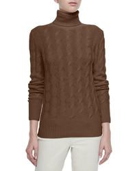 Dolcevita trecce cable knit turtleneck sweater medium 321419