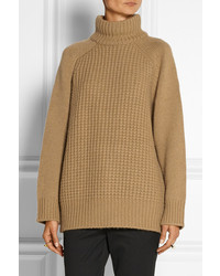 The Row Rivington Camel And Cashmere Blend Turtleneck Sweater ...