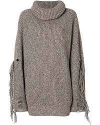 Tassel trimmed turtleneck knit medium 5264045