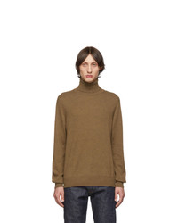 Brown Knit Wool Turtleneck