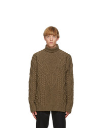DSQUARED2 Brown Wool Canadian Knit Sweater