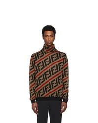 Fendi Brown Wool Forever Turtleneck