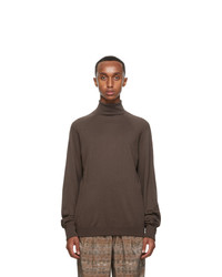 Lemaire Brown Wool Turtleneck