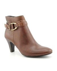 Bandolino Flightie Brown Narrow Leather Fashion Ankle Boots