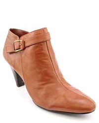 Bandolino Frenchy Brown Leather Fashion Ankle Boots Newdisplay