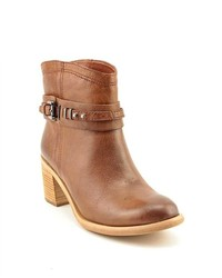 Boutique 9 Clarnella Brown Leather Fashion Ankle Boots