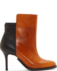 Maison Margiela Brown Black Leather Stiletto Ankle Boots