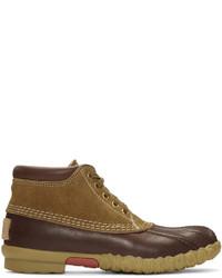 Visvim Brown Decoy Duck Mid Folk Boots