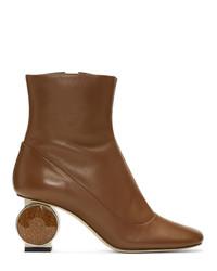 Loewe Brown Strass Heel Boots