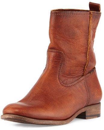 015a5292d81 $328, Frye Cara Short Leather Boot Cognac