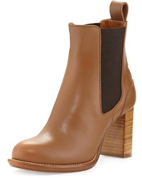Chloé Chloe Leather Ankle Boot Light Tan