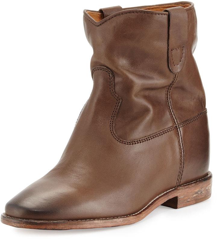 brown leather ankle boots isabel marant cluster slouchy leather ankle boot brown where to buy. Black Bedroom Furniture Sets. Home Design Ideas