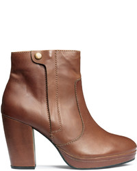 H&M Leather Ankle Boots Brown Ladies