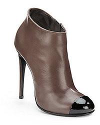 Giuseppe Zanotti Leather Cap Toe Ankle Boots