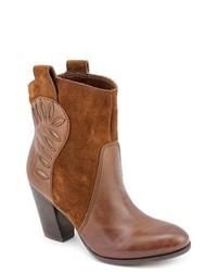 Naturalizer Ember Brown Leather Fashion Ankle Boots