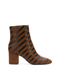 Striped ankle boots medium 8341443