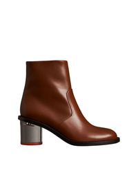 98cf4f63358d ... Burberry Two Tone Leather Block Heel Boots