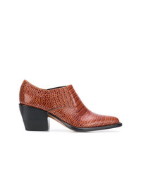 Chloé Woven Pointed Ankle Boots