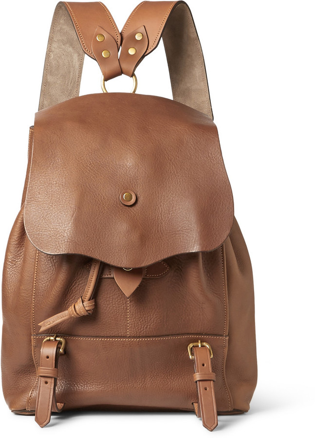 bill amberg hunter grained leather backpack where to buy how to wear. Black Bedroom Furniture Sets. Home Design Ideas