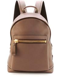 Tom Ford Buckley Zip Pocket Backpack Brown