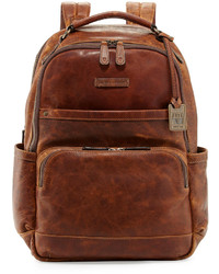 Frye Logan Pull Up Leather Backpack Cognac
