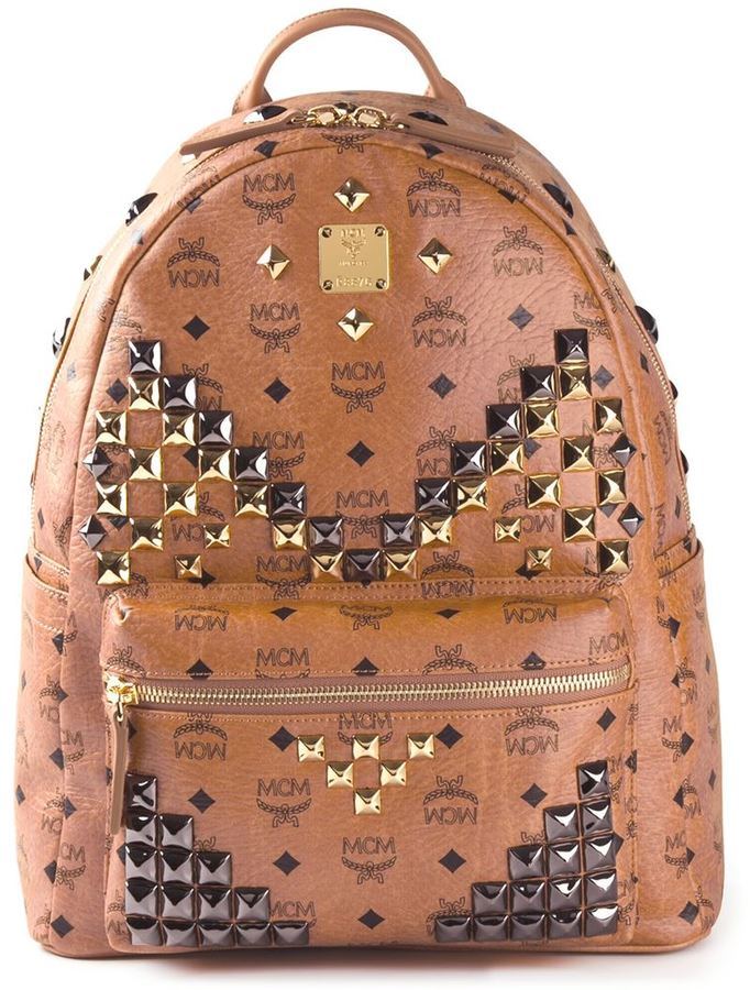 mcm studded stark backpack where to buy how to wear
